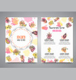 isolated creative background cards with flowers vector image vector image