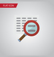 isolated search flat icon scan element can vector image