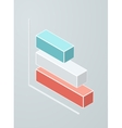 Isometric bar chart icon vector image vector image