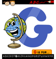 letter g with globe cartoon vector image