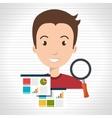 man statistics graphic search vector image