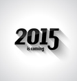 Modern Flat Style 2015 New Year vector image vector image