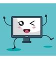 monitor computer character kawaii style vector image vector image