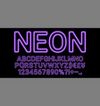neon font in violet color vector image