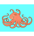octopus line art style Design for t-shirt posters vector image vector image