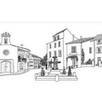old city street view european cityscape house vector image vector image