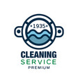 original logo design for cleaning service vector image vector image