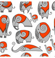 ornate elephant seamless pattern for your design vector image vector image