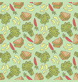 pattern seamless kids with meal doodle element vector image