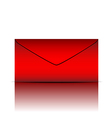 Red envelope on white background vector image