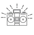retro tape recorder icon vector image vector image