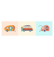 road home trailer concept vector image