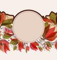round floral frame or border circular romantic vector image vector image