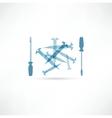 Screwdriver and screws Repair Icon vector image vector image