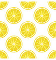 seamless pattern of lemon slice realistic citrus vector image vector image