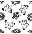 seamless pattern with black and white forest vector image vector image