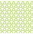 seamless repeating pattern green triangles vector image