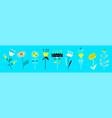 set flat spring floral icons set floral vector image vector image