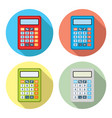 set of calculator icons vector image vector image
