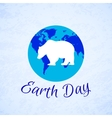 Silhouette of a bear over planet Earth Earth Day vector image vector image