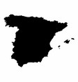 spain silhouette map vector image vector image
