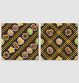 spice seamless patterns vector image vector image