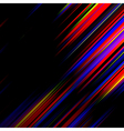 Striped abstract design on dark background vector image vector image