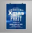 stylish blue merry christmas flyer design vector image