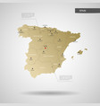 stylized spain map vector image