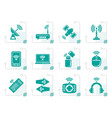 stylized wireless and communication technology vector image vector image