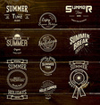 Summer holidays badges logos and labels for any vector image vector image