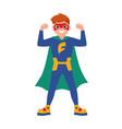 superboy or superchild cute boy wearing mask vector image vector image