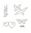 Symbol set for Valentines Day vector image vector image
