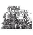 the emperor maximilian on the triumphal car was vector image vector image