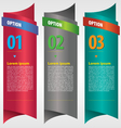 Vertical ribbon banner with option numbered vector image vector image