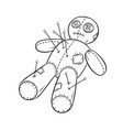 voodoo doll coloring book vector image