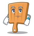 waiting kitchen board character cartoon vector image vector image