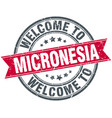 welcome to micronesia red round vintage stamp vector image vector image