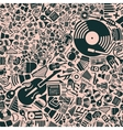background of the music icons vector image