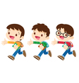 student boy walking vector image