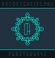 Set from the monogram and a font vector image