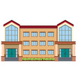 a modern building on white background vector image