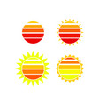 abstract sun icon set vector image vector image