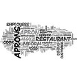 apron kw text word cloud concept vector image vector image