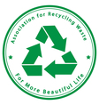Association for Recycling Waste vector image vector image