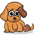baby dog puppy cartoon vector image vector image
