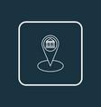 bank location icon line symbol premium quality vector image vector image