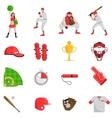 Baseball flat set vector image vector image