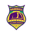 baseball major league vintage isolated label vector image
