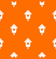 birdhouse pattern seamless vector image vector image